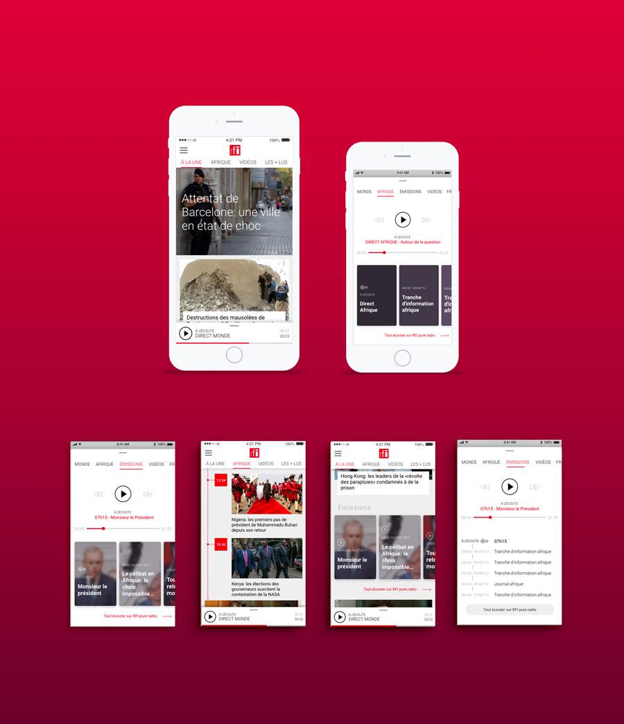 Application mobile RFI